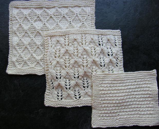 Organic Cotton Spa Cloths Set 2 - Knitting Patterns and Crochet ...