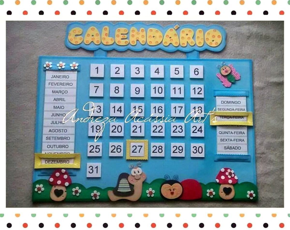 Monster Theme Com Imagens Calendarios Infantis Calendario
