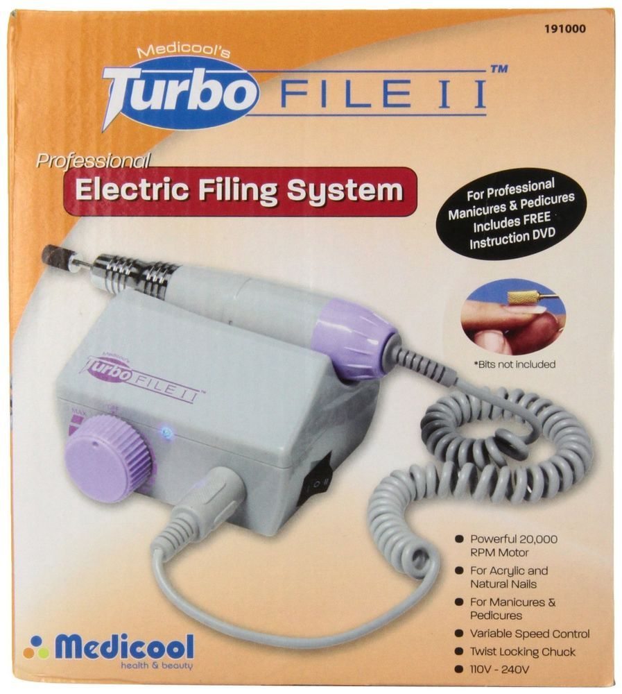 Medicool Turbo File II Professional Nail Filing System Manicure ...