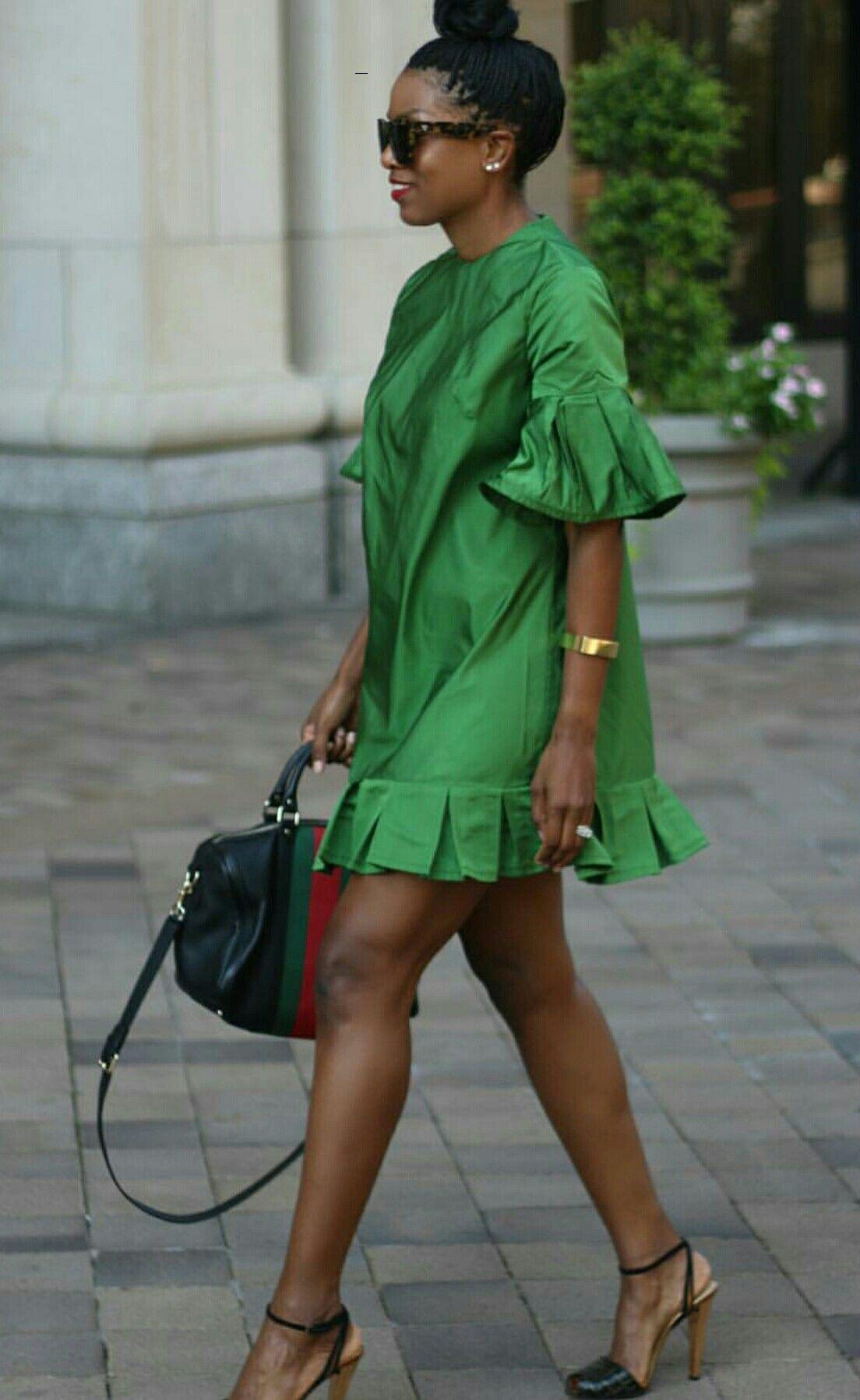 Green envy  Street Fashion en 2018  Pinterest  Robe Mode et Robe pagne