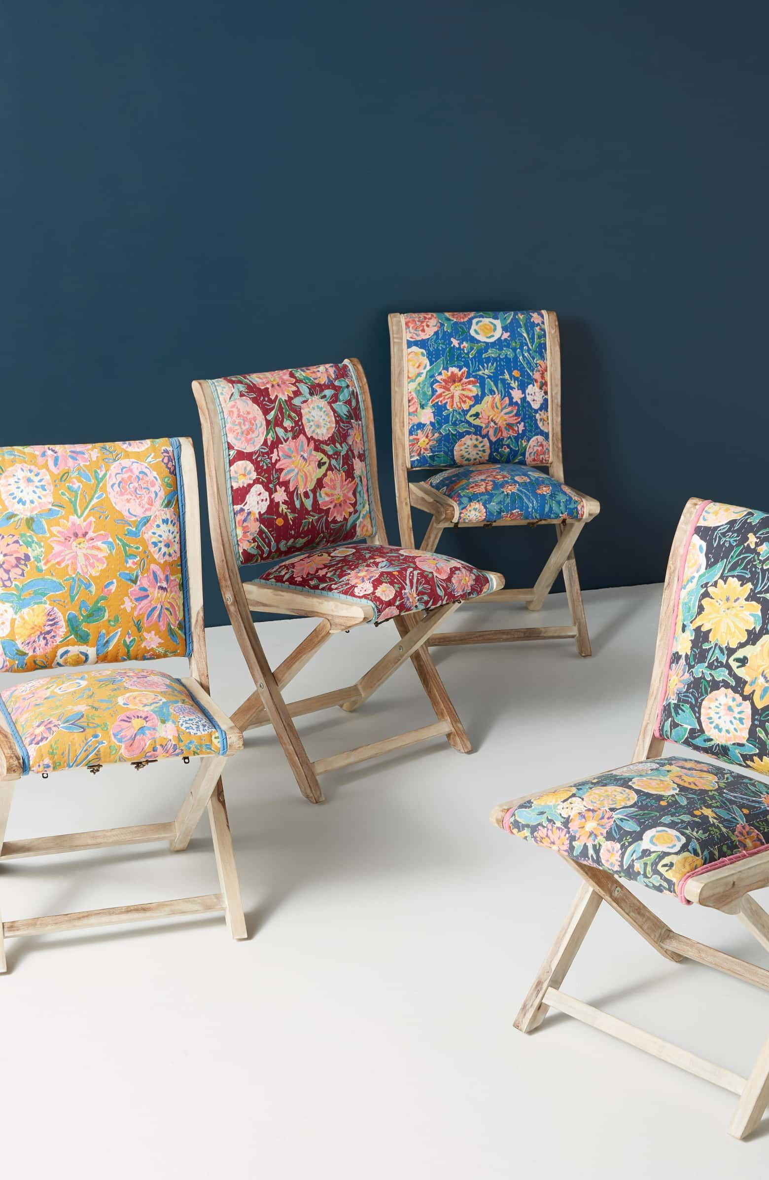 Anthropologie Emma Terai Folding Chair Folding chair