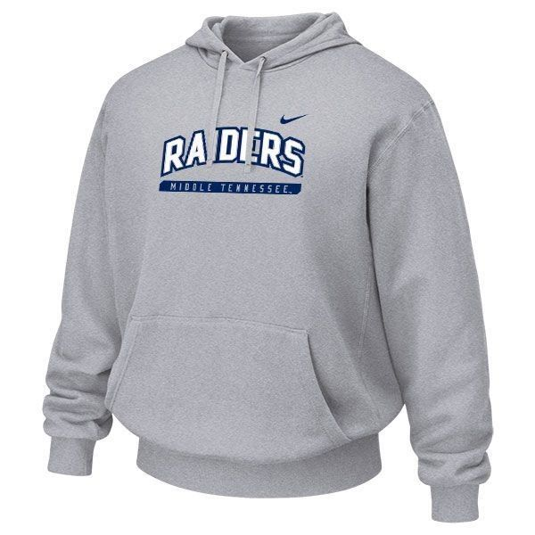 This Nike Raiders hoodie is perfect for staying warm when going class to class! It is also available in royal blue! #trueblue #MTSU #textbookbrokers