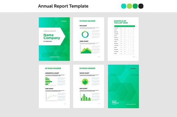 Modern Annual Report Template  Modern Template And By