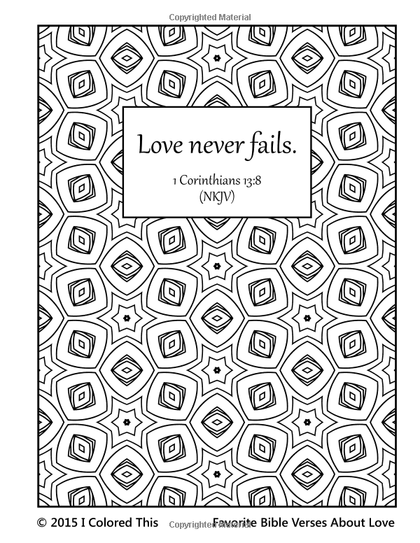 Favorite Bible Verses About Love A Coloring Book For Adults And Older Children I