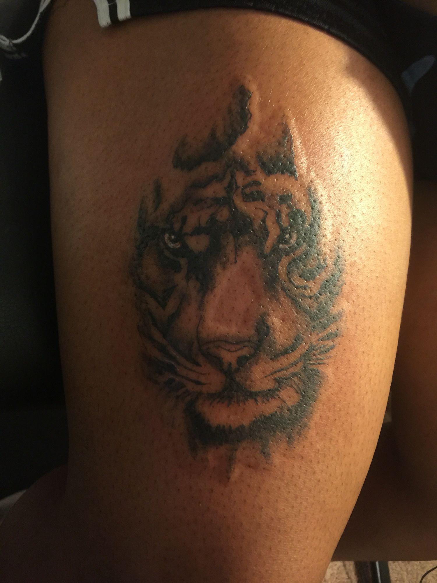 Tiger Kb Dark Skin Animal Tattoo Black Is Beautiful