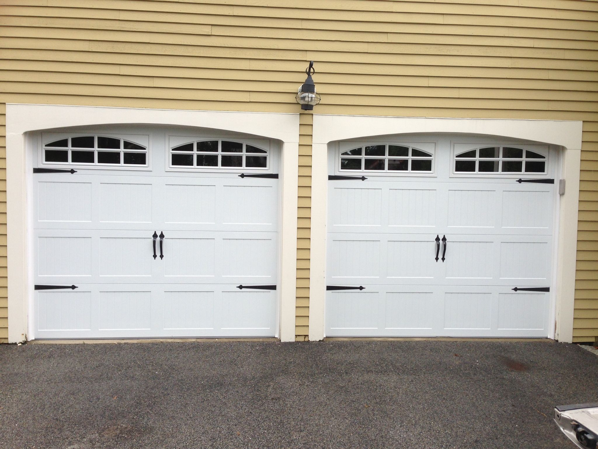 C H I Overhead Doors Model 5216 Steel Carriage House