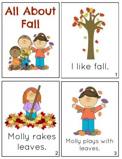 Free Printable Fall Mini Book Fall Classroom Ideas Fall Preschool Mini Books Preschool worksheets printable books