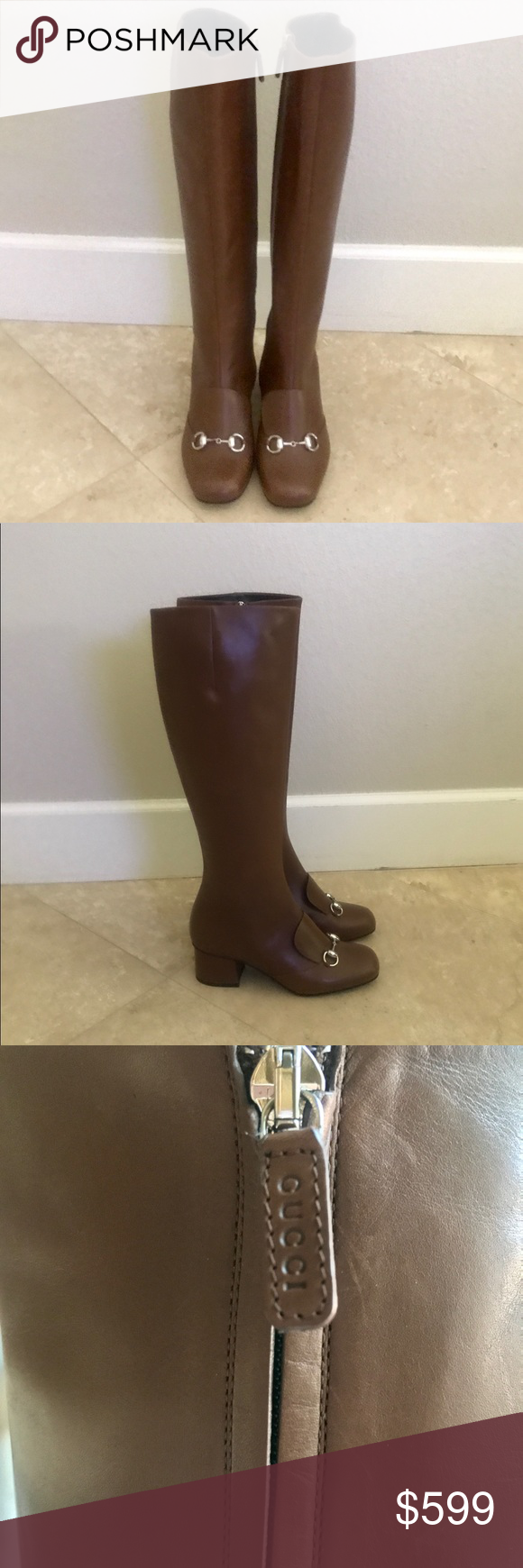 9bdfc1c2c NWT 100% Authentic Gucci Lillian Horsebit Boots!! NWT Gucci Lillian Horsebit  Knee High