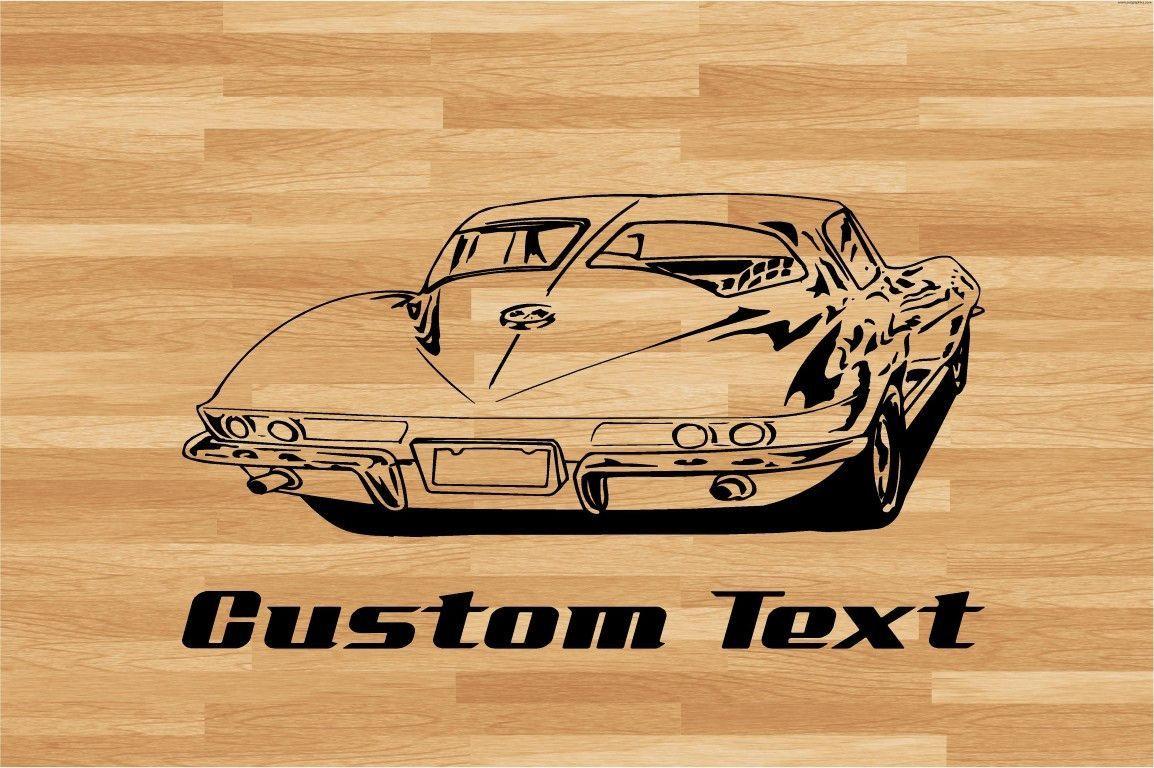 Corvette Split Window Car Wall Decal - Auto Wall Mural - Vinyl ...