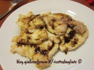 Scaloppine di pesce spada croccante in salsa agrodolce