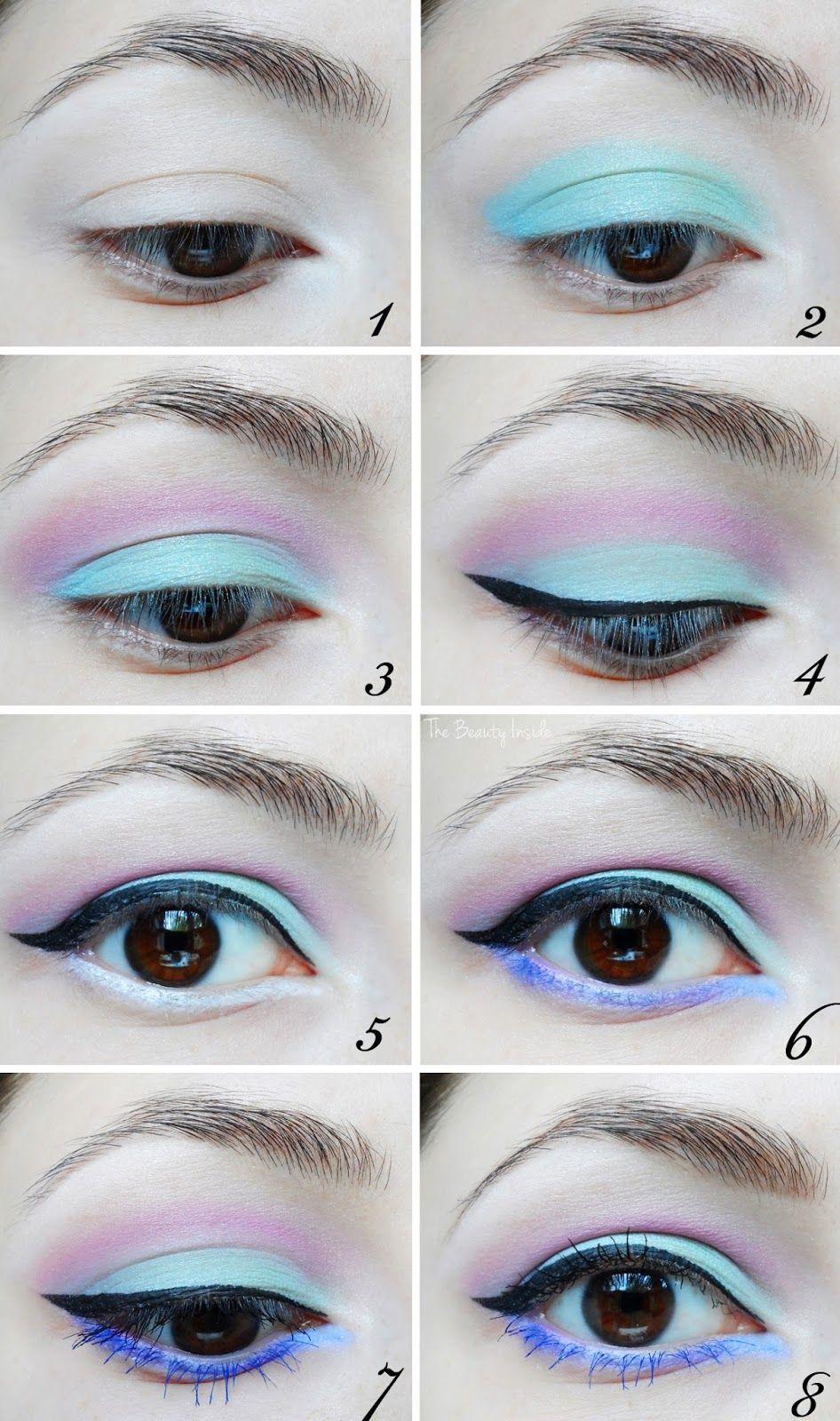 light color Eyeshadow Step By Step Tutorial Pastel Pink