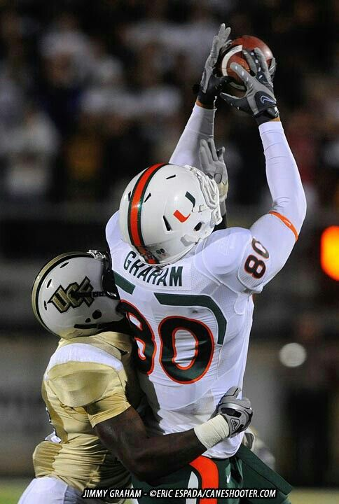 Jimmy Graham In His Days At The U Miami Hurricanes Football Miami Football Hurricanes Football