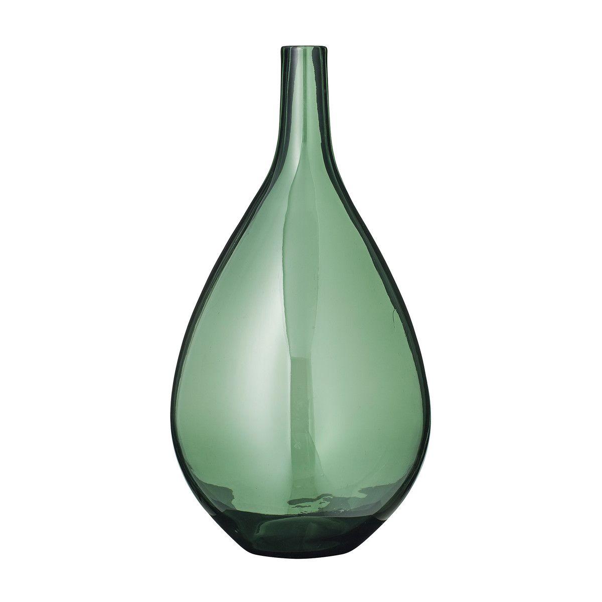 Die Bauchige Glas Vase Von Bloomingville In Grün Project Tidying
