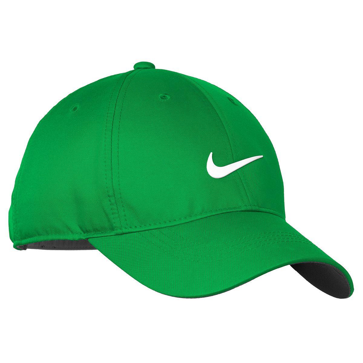 5eb5c9021 Nike 548533 Dri-FIT Swoosh Front Cap - Lucky Green/White | Nike Golf ...