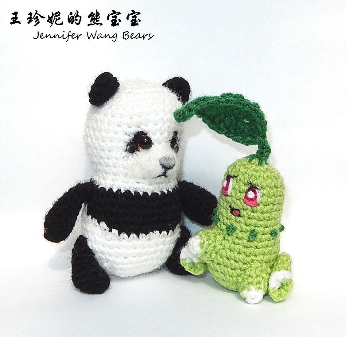 152 Chikorita ~ free amigurumi pattern by Jennifer Wang Bears ...