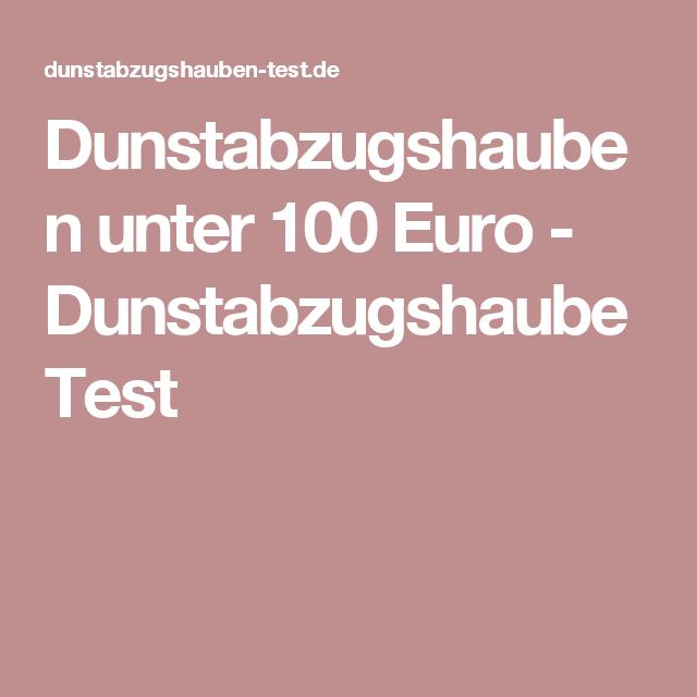 Bergström Dunstabzugshaube Anleitung 2021