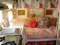 interior of an adorable trailer!