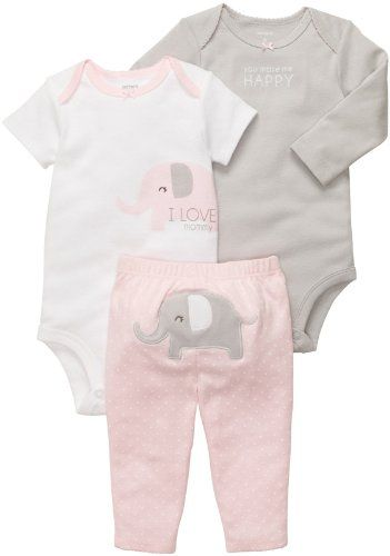 FREE SHIPPING Vintage Style Baby Romper for Girl Baby Elephant