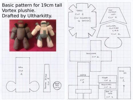 Vortex plushie 19cm basic pattern by ultharkitty