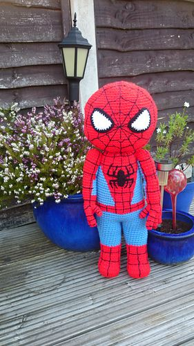 Spider man crochet pattern-free! | toys | Pinterest | Häkelanleitung ...