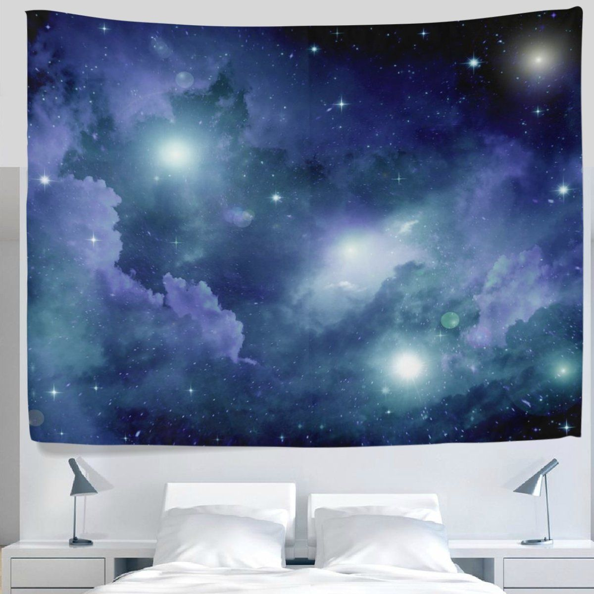 Galaxy Stars in Space Universe Milky Way Orbit Wall Hanging Tapestry for Bedroom