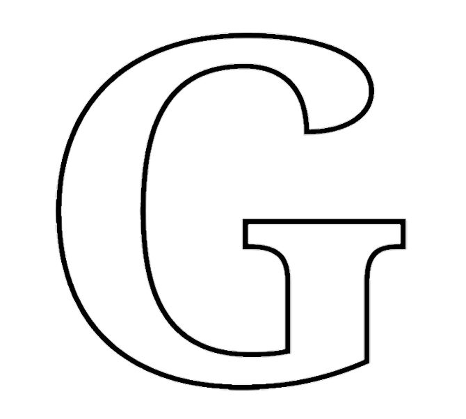 Printable Alphabet G Coloring Pages | g | Pinterest
