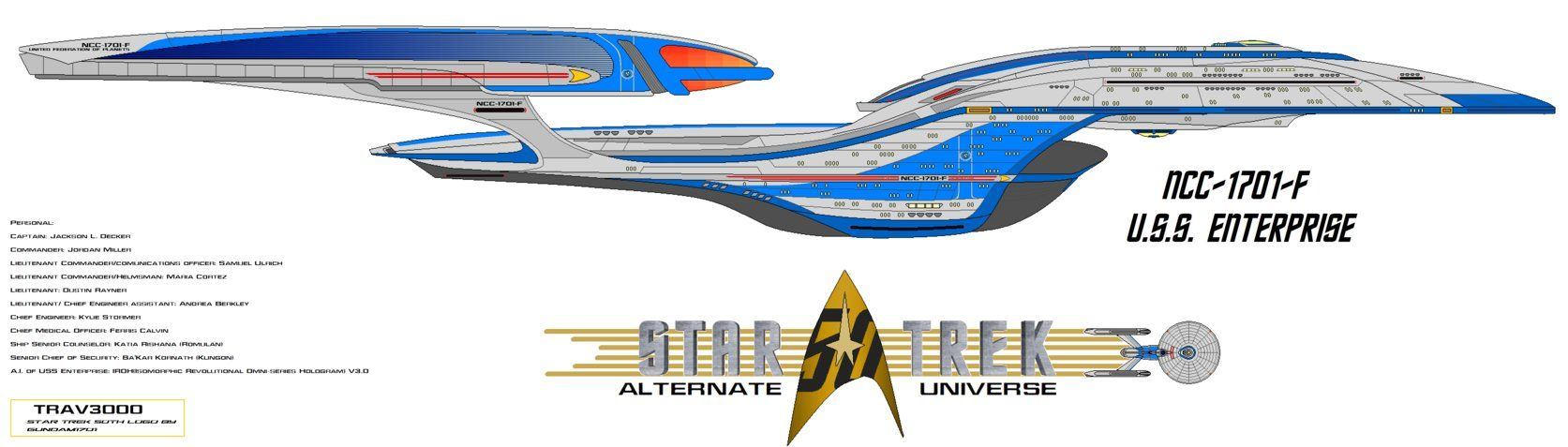 USS Enterprise NCC 1701 F   Star trek crew, Star trek quotes