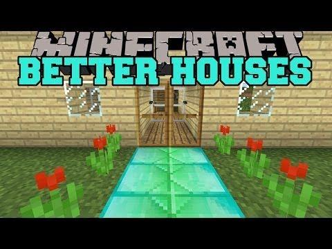 Minecraft BETTER HOUSES (SECRET ROOMS, ANIMATED DOOR