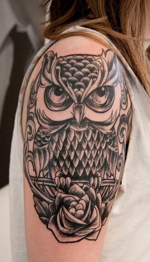 687a8c1f3b899 55 Awesome Owl Tattoos | Tattoos | Tattoo designs, Picture tattoos ...
