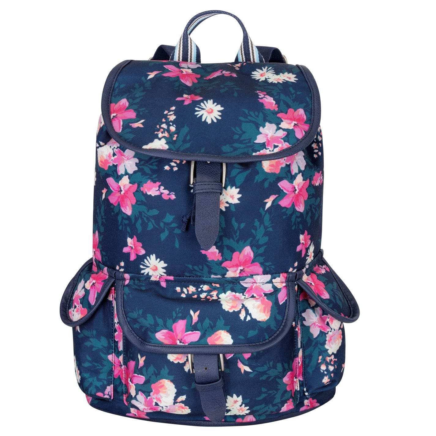 Miso Canvas Backpack Navy Floral