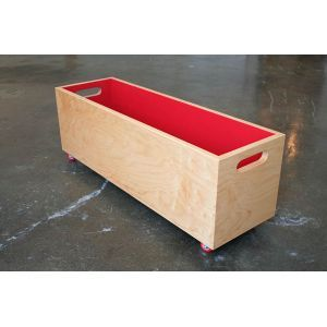 simple toy box on wheels i might like this but built with a shelf underneath for a couple. Black Bedroom Furniture Sets. Home Design Ideas
