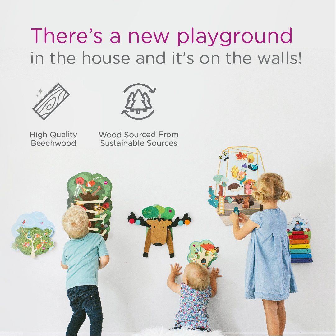 Vertiplay Wall Toy Musical Rail Track In