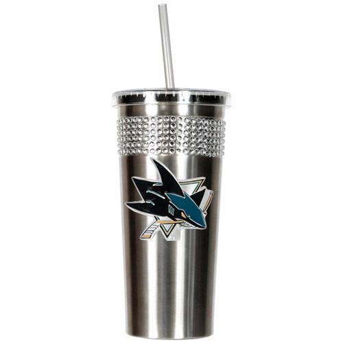 San Jose Sharks Travel Cup Tumbler with Straw