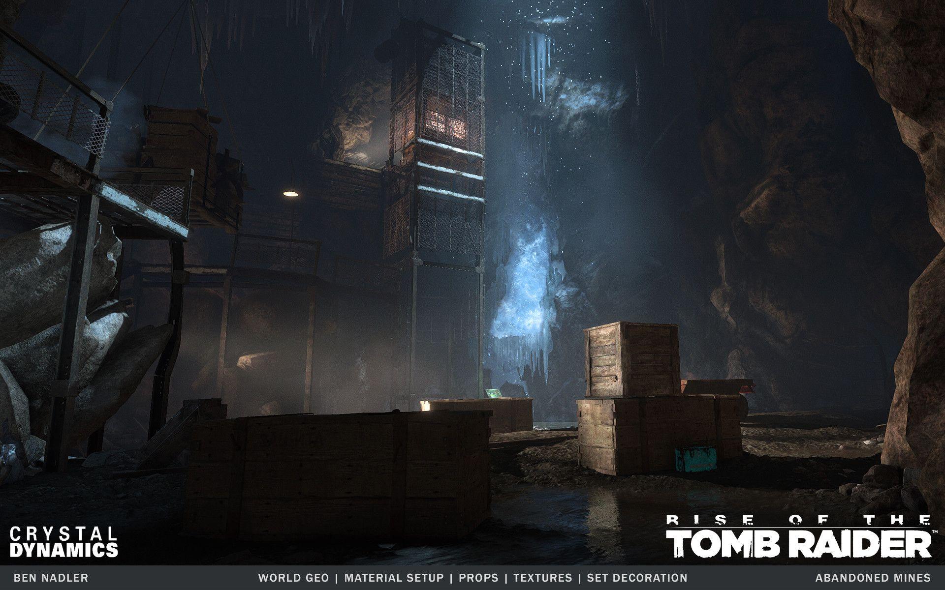 Artstation Rise Of The Tomb Raider Abandoned Mines Ben Nadler Rise Of The Tomb Tomb Raider Abandoned