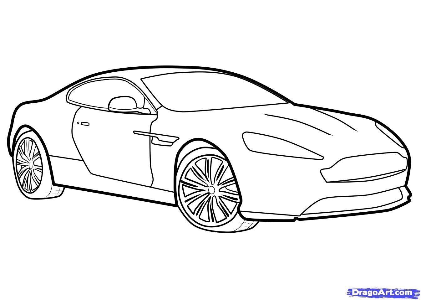 3D Drawings Of Car Step By Step Black And White