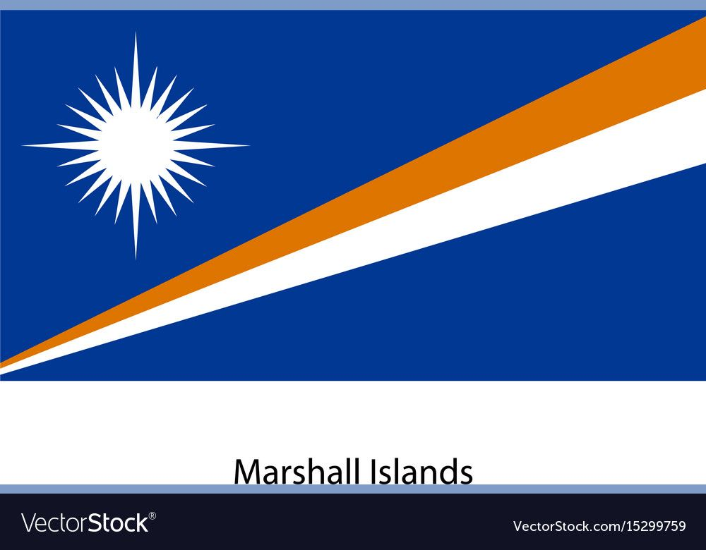 Marshall Islands Flag Vector Image On Marshall Islands Flag Flag Vector Island