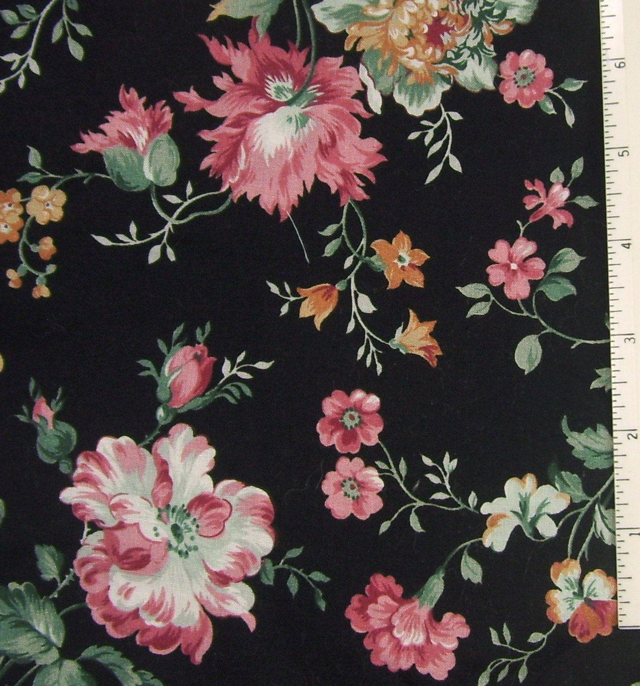 Black Pink Rose Floral Print Floral Prints Floral Wallpaper