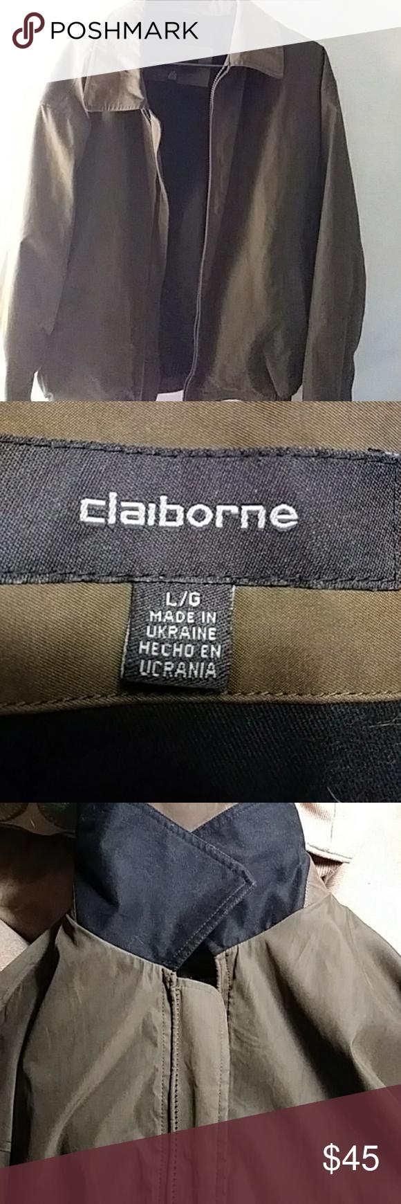 Claiborne Outerwear Microfiber Men S Jacket Mens Jackets Jackets Winter Outerwear [ 1740 x 580 Pixel ]