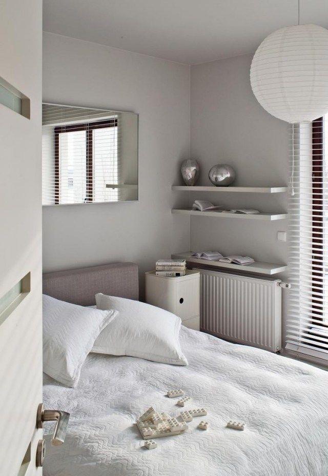 schlafzimmer farben neutral hellgrau weiß kleiner raum kleines - schlafzimmer farben ideen