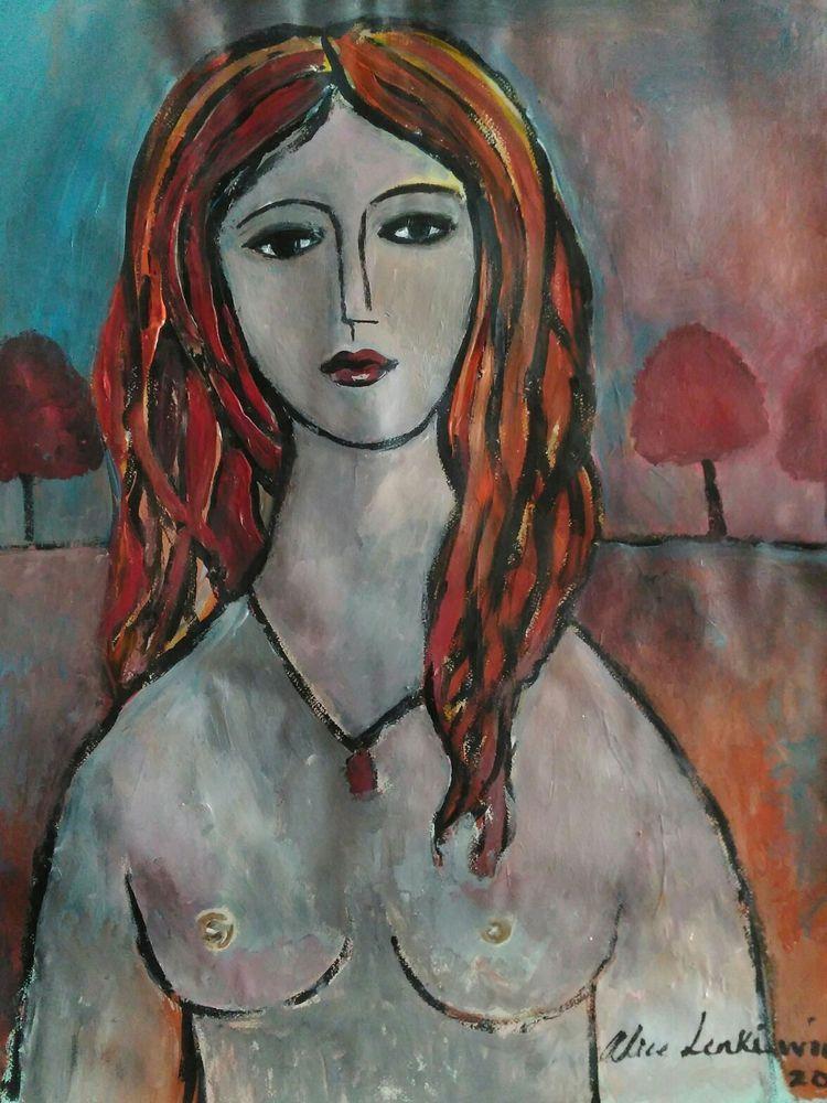 Alice Lenkiewicz: Woman, in landscape. 2017 in Art, Contemporary Paintings, Experimental/Alternative | eBay!