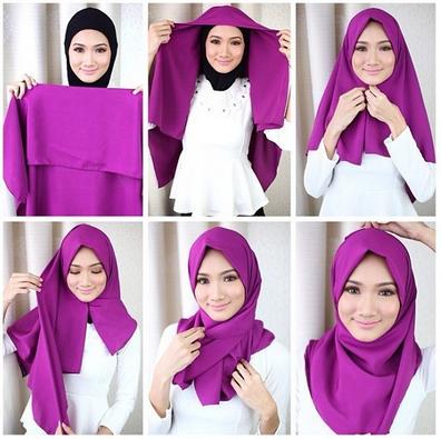 Tutorial Hijab Segi Empat Satin Simple Dan Modis Tutorial Hijab Mudah Kerudung Hijab