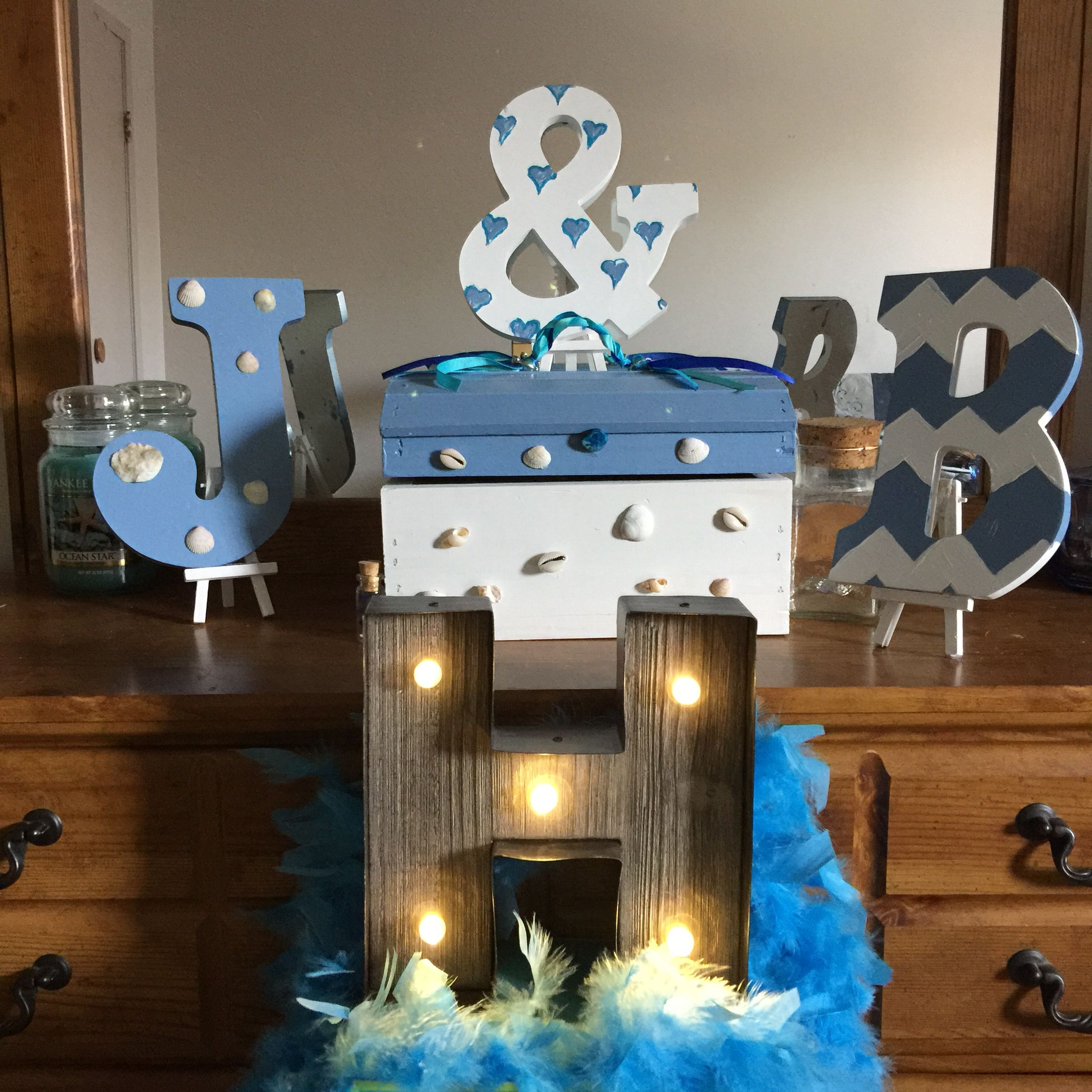 Beach theme wedding decorations. Cheap diy crafts! Beach