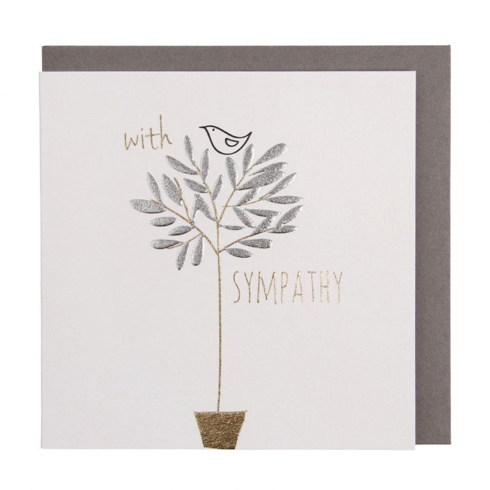 Bird in tree small sympathy card paperchase stationery