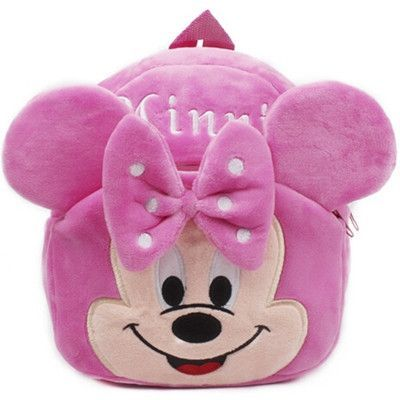 772258a625 Cute Cartoon Minnie Baby Girls Mini Soft Plush Backpack Kids Children  School Bags mochila infantil menino