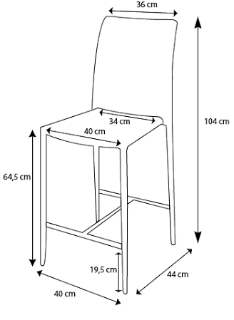 Resultado de imagen para banquetas medidas madera - Medidas silla ...