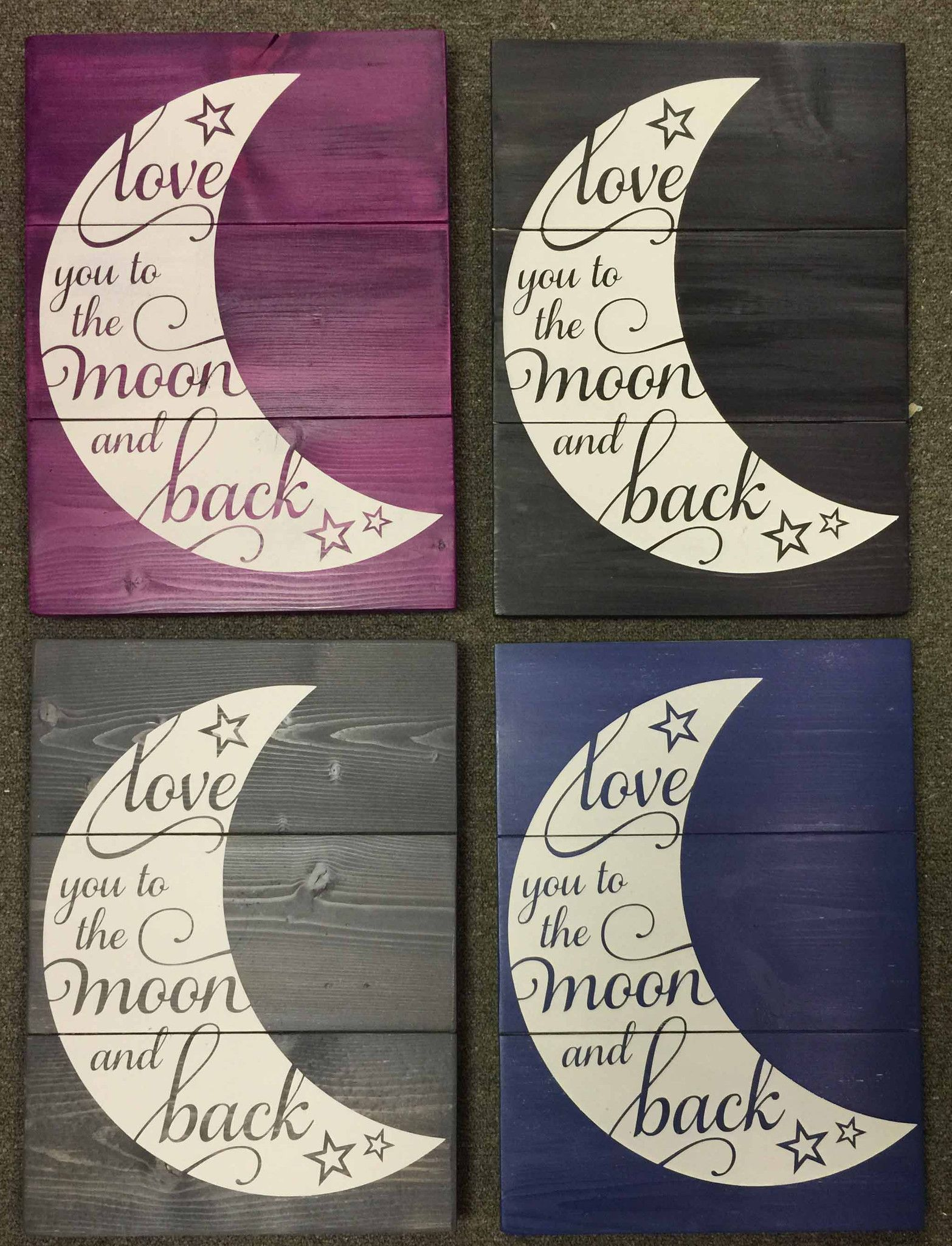 LOVE YOU TO THE MOON AND BACK SIGN – Signs of Vinyl | Cricut