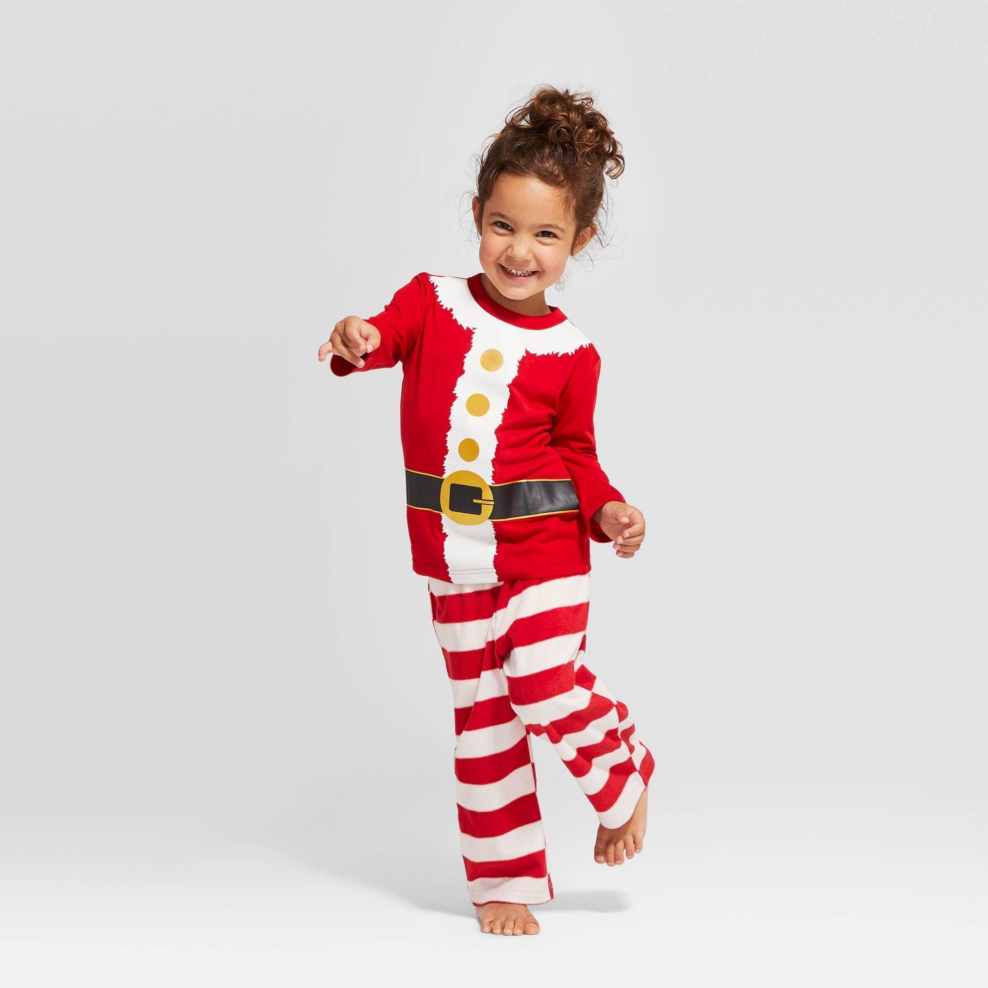 Toddler Holiday Santa Pajama Set Red 12M