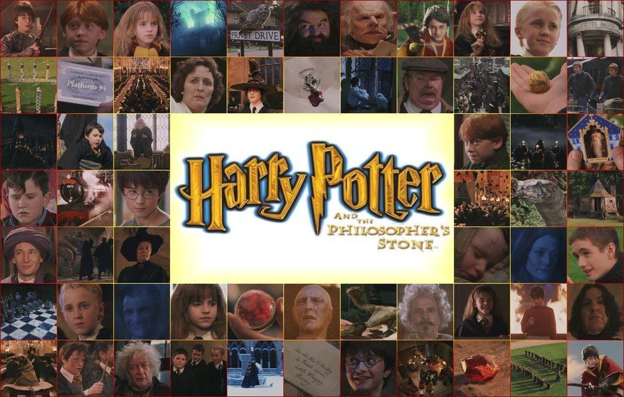 A collage for the movie Harry Potter and the Philosopher's Stone - HP and the Philosopher's Stone by Lexxa24.deviantart.com on @deviantART