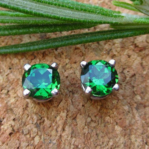 Tsavorite Garnet Earrings Fair Trade Palladium By Jetflair 700 00