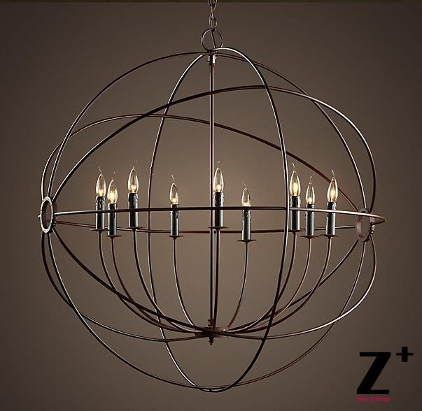 Customized Item Industrial Diam 100cm 9 Lights Replica 1920s